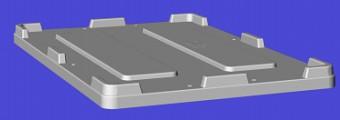 Harga Box Plastik Besar - Euro container palletLid HDPE Euro 1200x800