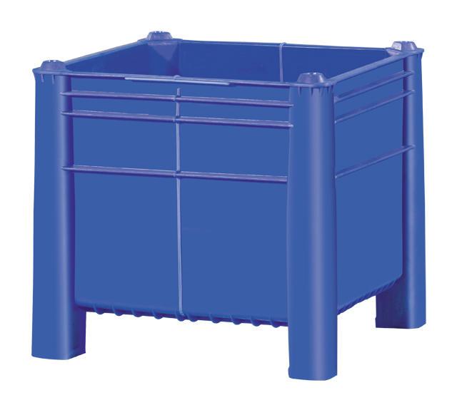 Container plastik besar - jual box plastik,  Solid,  4-way,  4 legs,  Euro 1200x800