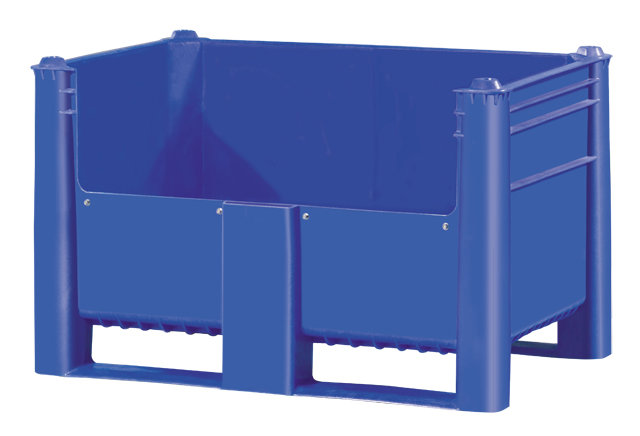 Container plastik besar - jual box plastik,  Solid,  4-way,  2 runners,  Euro 1200x800