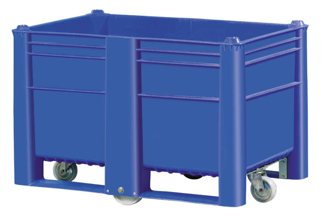 Container plastik besar - jual box plastik,  Solid,  4-way,  4 wheels,  Euro 1200x800