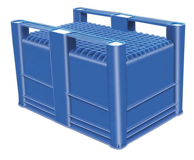 Container plastik besar - jual box plastik,  Solid USDA,  4-way,  2 runners,  Euro 1200x800