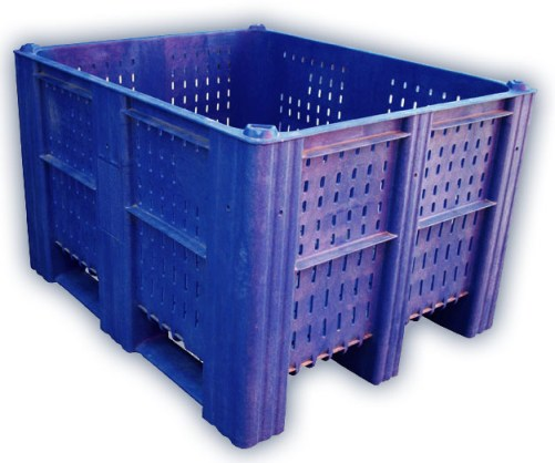 Container plastik besar - jual box plastik,  Vented,  4-way,  3 runners,  ISO 1200x1000