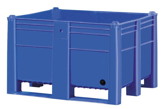 Container plastik besar - jual box plastik,  Solid,  4 way,  2 runners + 2 legs,  ISO 1200x1000