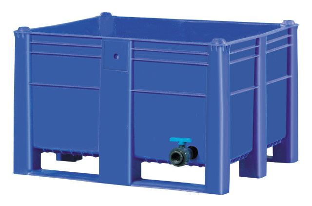 Container plastik besar - jual box plastik,  Solid,  4 way,  2 runners + 2 feet,  ISO 1200x1000