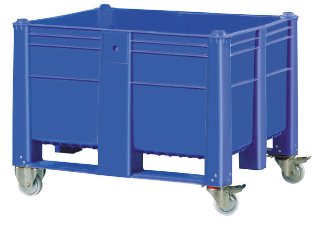Container plastik besar - jual box plastik,  Solid,  4 way,  4 wheels,  ISO 1200x1000
