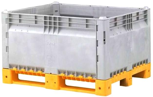 Harga Container plastik besar - box pallet di jakarta, Solid folding HDPE ISO 1200x1000