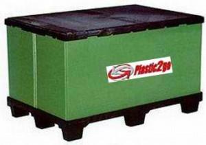 Container plastik besar - jual box plastik,  Folding ,  4-way,  9 Feet,  Export, Euro 1200 x 800