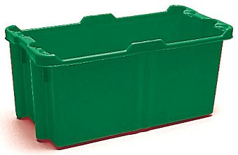 Container plastik - jual box di indonesia, PP, Stack and nest, Food, Reusable/RPC, Solid, C2GP1010-01S