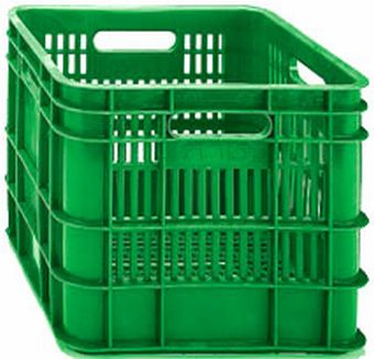 Container plastik - jual box di indonesia, HDPE, Stackable, Food, Reusable/RPC, Vented, C2GP1024-10V