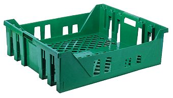 Container plastik - jual box di indonesia, PP, Stack and nest, Food, Reusable/RPC, Vented, C2GP184-90V