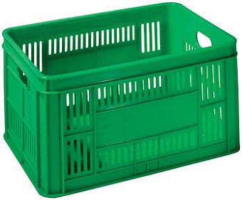 Container plastik - jual box di indonesia, PE, Stackable, Agriculture, Reusable/RPC, Vented, C2GP194-50V