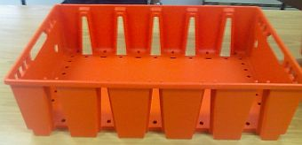 Container plastik - jual box di indonesia, HDPE, Stackable, Agriculture, Euro 600x400, Food, Reusable/RPC, Vented, C2GP6416V