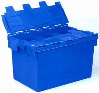 Container plastik - jual box di indonesia, PP, Stack and nest, Automotive, Euro 600x400, Reusable/RPC, Solid, C2GP6434S