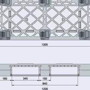 Harga pallet plastik - jual palet,  ISO 1200x1000 , Medium Duty