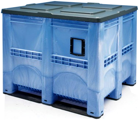 Bulk Container by plastic 2 go indonesia - the best large box in jakarta! Solid, HDPE, Jumbo 1200x1200, B2GC1311S