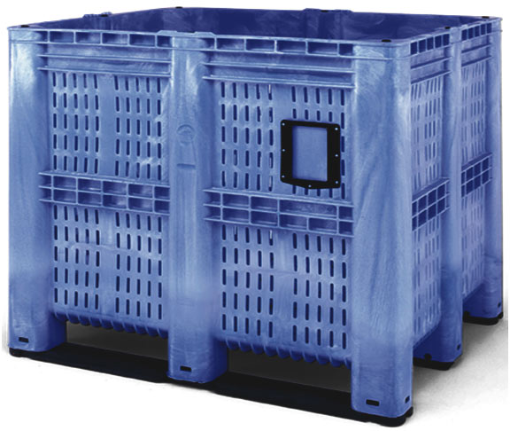 Bulk Container by plastic 2 go indonesia - the best large box in jakarta! Vented, HDPE, Jumbo 1200x1200, B2GC1311V