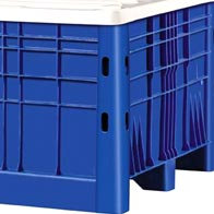 Plastic Bulk Container - best pallet box in Indonesia, Solid, HDPE, Australian, B2GD1120S