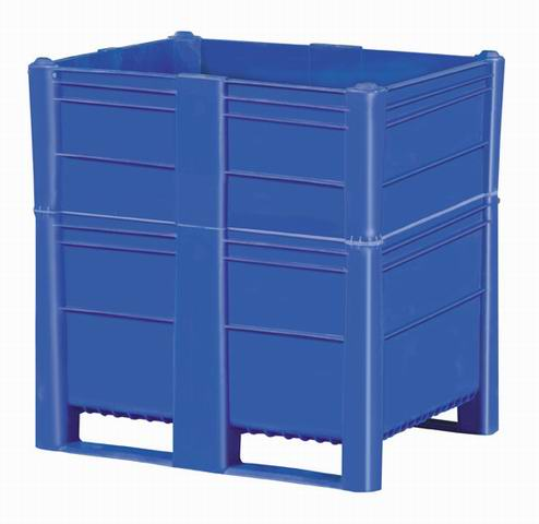 Plastic Bulk Container - best plastic box in Indonesia, Solid, HDPE, Euro 1200x800, B2GD1208H114S