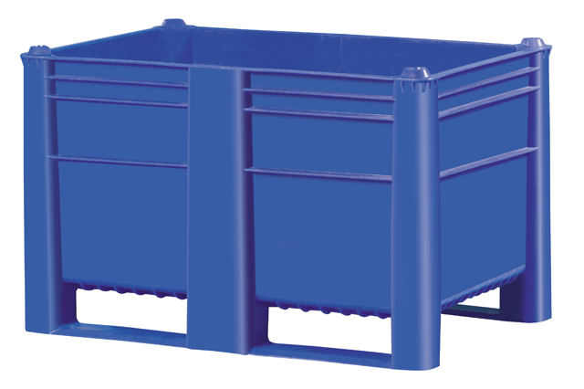 Plastic Bulk Container - best plastic box in Indonesia, Solid , HDPE, Euro 1200x800, B2GD1208H74S