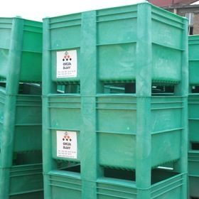 Plastic Bulk Container - best pallet box in Indonesia, Solid , HDPE, Euro 1200x800, B2GD1208H74S