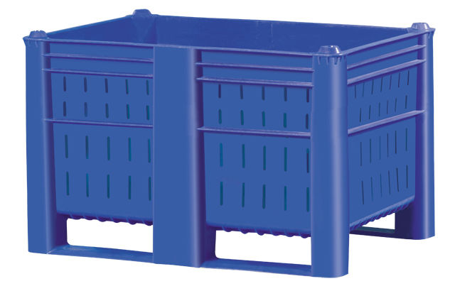 Plastic Bulk Container - best plastic box in Indonesia, Vented, HDPE, Euro 1200x800, B2GD1208H74V
