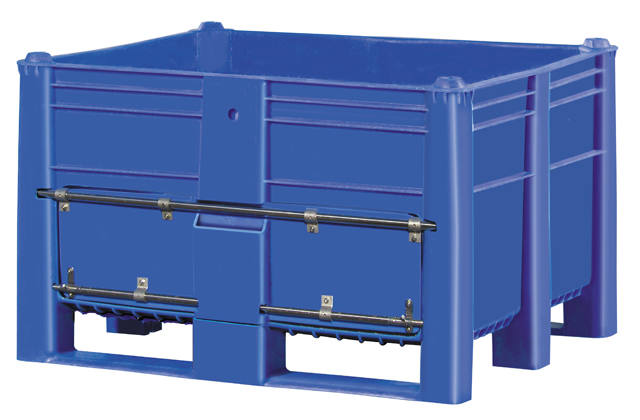 Plastic Bulk Container - best plastic box in Indonesia, Solid, HDPE, ISO 1200x1000, B2GD1210CSLD