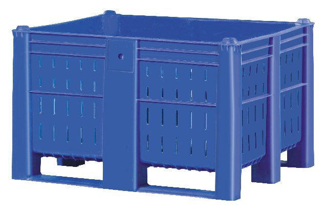 Bulk Container by plastic 2 go indonesia - the best large box in jakarta! Vented, HDPE, ISO 1200x1000, B2GD1210CV