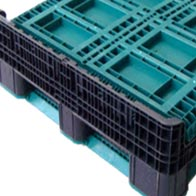 Plastic Bulk Container - best pallet box in Indonesia, Folding Solid, PP, Export, B2GO1211SF