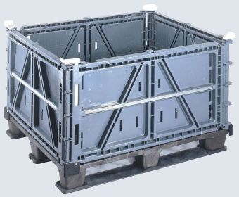 Plastic Bulk Container - best plastic box in Indonesia, Folding Solid, HDPE, Export, ISO 1200x1000, B2GP58600S