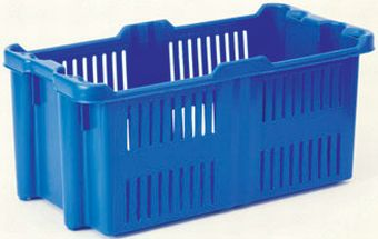The best plastic crates and containers by Plastic 2 go Indonesia, PP, Stack and nest, Food, Reusable/RPC, Vented, C2GP1010-01V