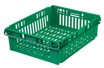 The best plastic crates and containers by Plastic 2 go Indonesia, PP, Stack and nest, Food, Reusable/RPC, Vented, C2GP184-12V