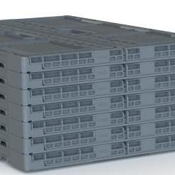 Plastic crates in Jakarta - Plastic 2 go Indonesia has the best container box, Folding Vented,    C2GP6411FV