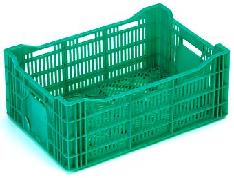 The best plastic crates and containers by Plastic 2 go Indonesia, HDPE, Stackable, Agriculture, Euro 600x400, Food, Reusable/RPC, Vented, C2GP6423V