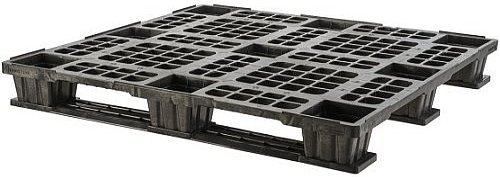 export plastic pallets, one way plastic pallets indonesia,  ISO 1200x1000, Export , Light Weight, P2G1210-3