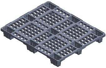 Strong plastic pallets from Plastic 2 go  Indonesia, ISO 1200x1000, Export  , Light Weight, P2G1210