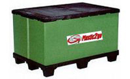 folding plastic bulk containers by plastic 2 go indonesia - one of the best pallet boxes in jakarta